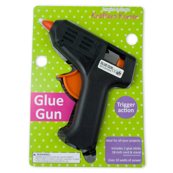 Trigger Action Hot Glue Gun With Glue Sticks (Pack Of 24) by Krafters Korner