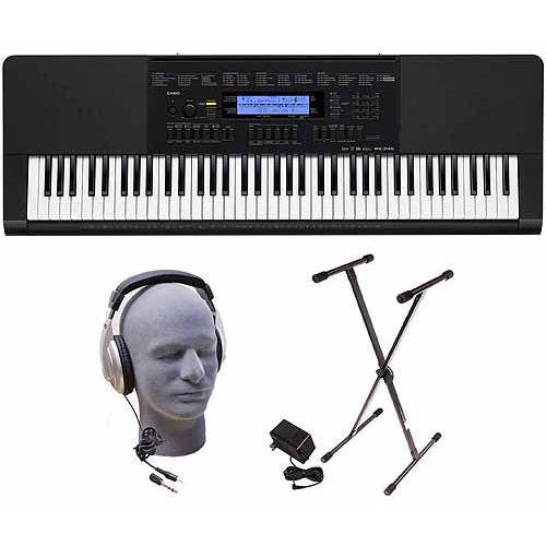 Casio WK-245 76-Key Premium Portable Keyboard Package wit Headphones, Stand and Power Supply
