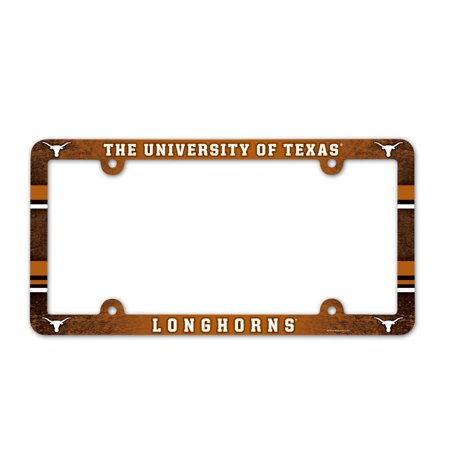 - Texas Longhorns Official NCAA 12 inch x 6 inch  Plastic License Plate Frame by Wincraft