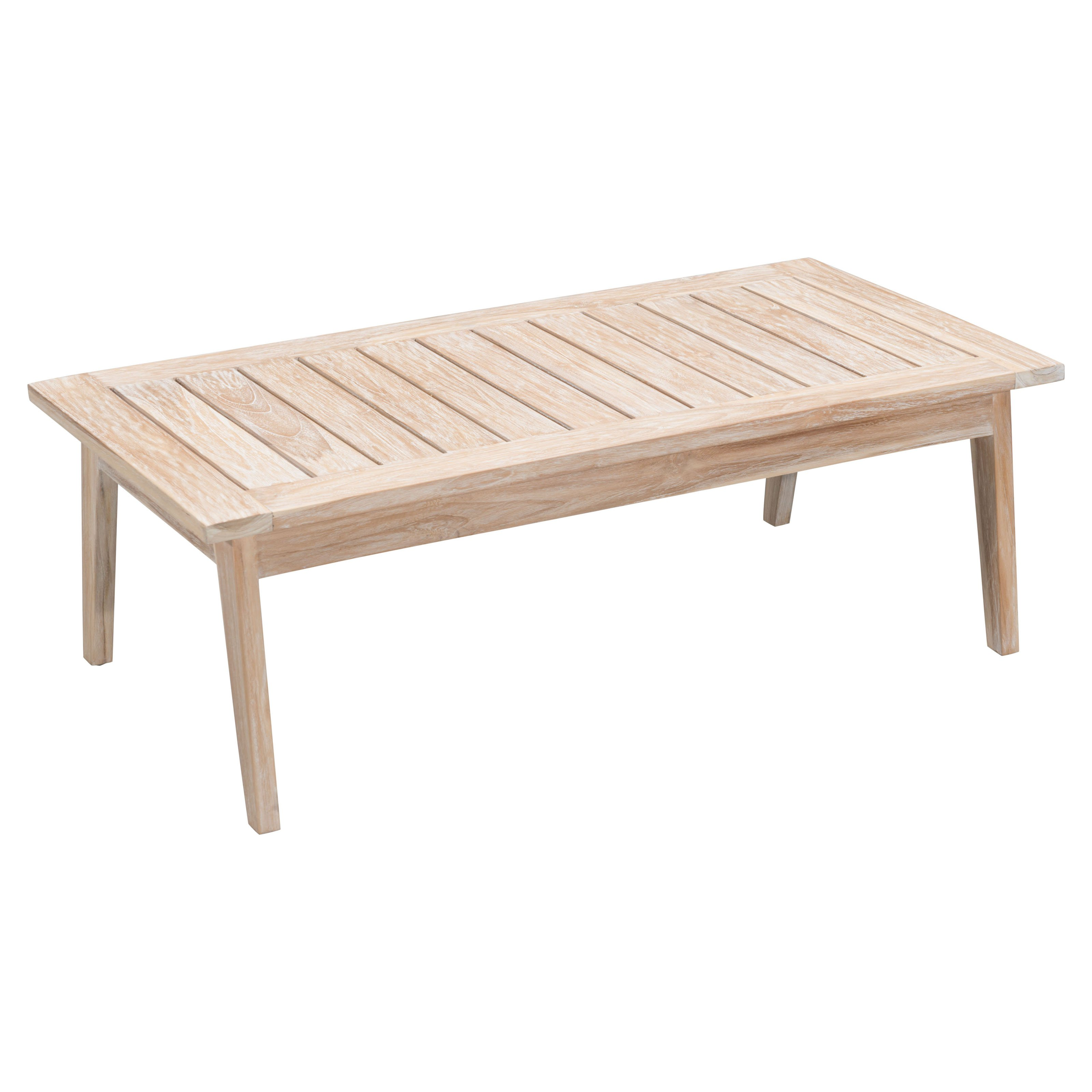 West Port Coffee Table White Wash by Zuo Modern
