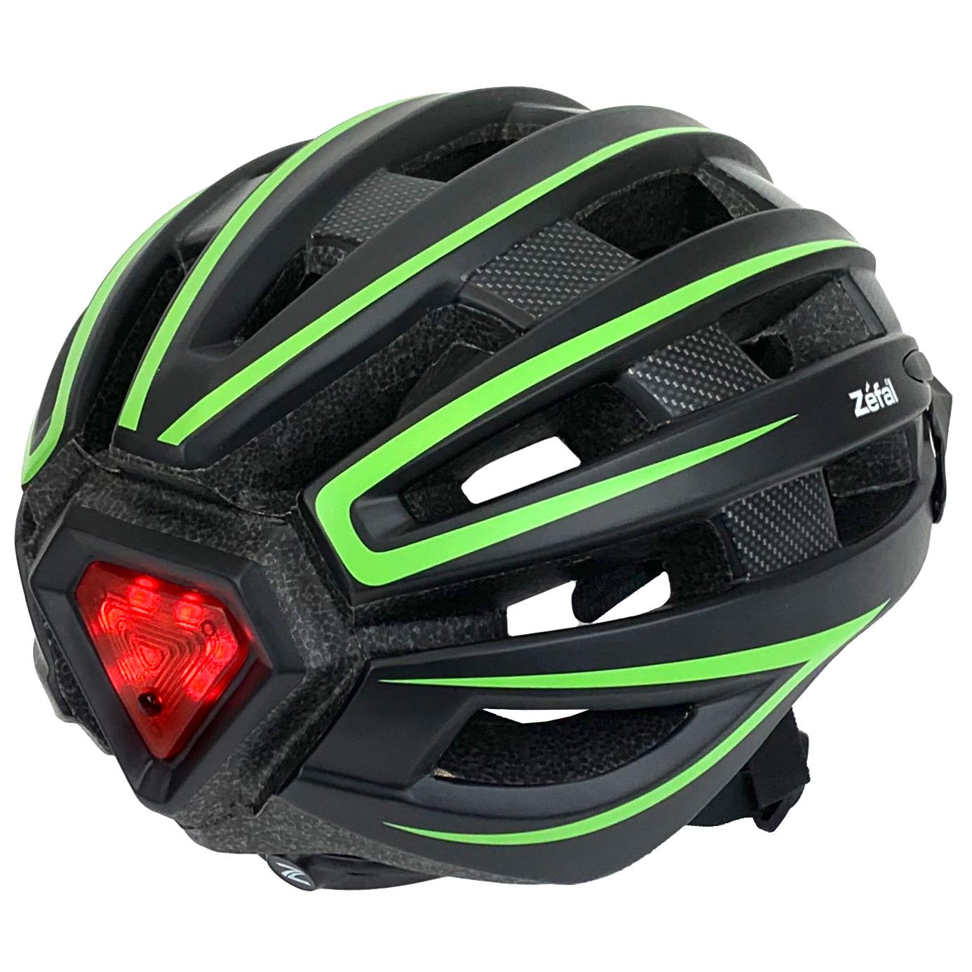Bike Helmet Light >> Zefal Adjustable Light Up Bicycle Helmet L 58 61cm Universal Dial