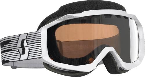 Scott USA White Hustle Snowcross Goggles w Silver Chrome ACS Thermal Lens Thermal Silver Chrome by Scott Performance