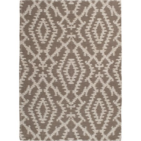 Better Homes & Gardens Wandering Ikat Indoor/Outdoor Area Rug, Gray ()
