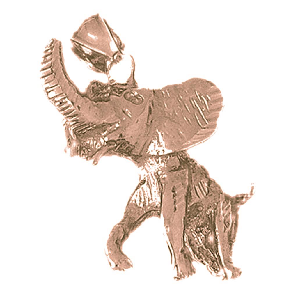 Sterling Silver 36mm Deer with 7.5 Charm Bracelet Jewels Obsession Deer Pendant