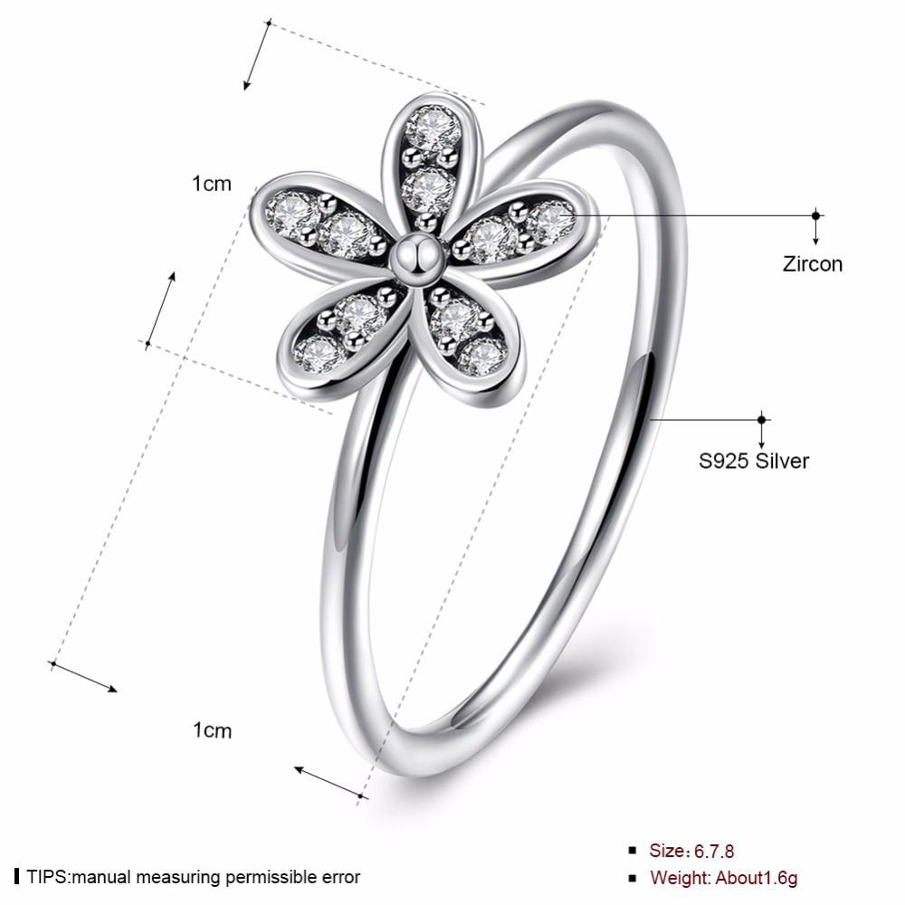 Flower Silver Ring - image 1 de 2