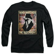 Watchmen/Who Watches   L/S Adult 18/1   Black     Wbm262