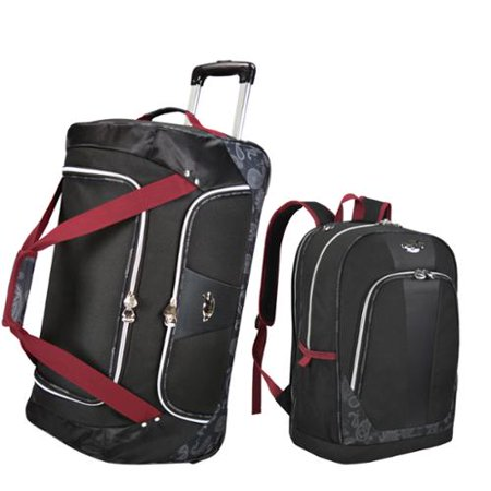 Travelers Choice Bret Michaels By  Classic Road 2 Piece Rolling Duffel And Backpack Luggage Set