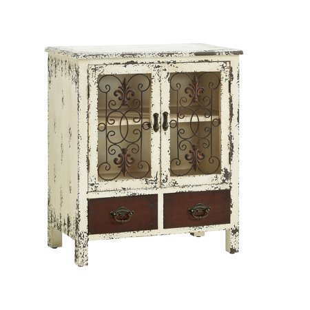 Powell Parcel White 2-Door, 2-Drawer Console ()