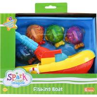 Spark Create Imagine Fishing Boat & Fish Bath Toy Set