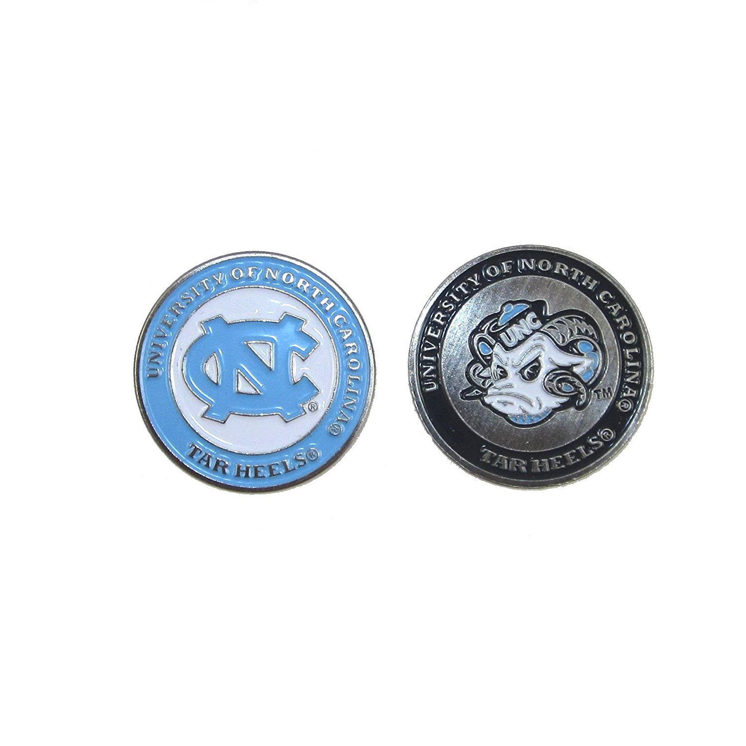North Carolina Tar Heels Double-Sided UNC Golf Ball Marker, 1 Team Logo Double Sided Ball Marker By Waggle Pro Shop,USA