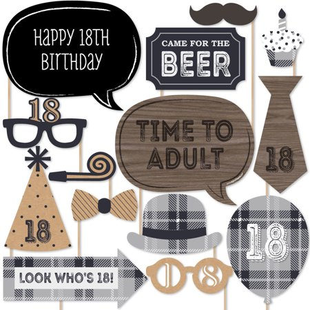 18th Milestone Birthday - Photo Booth Props Kit - 20 - 18th Birthday Rings
