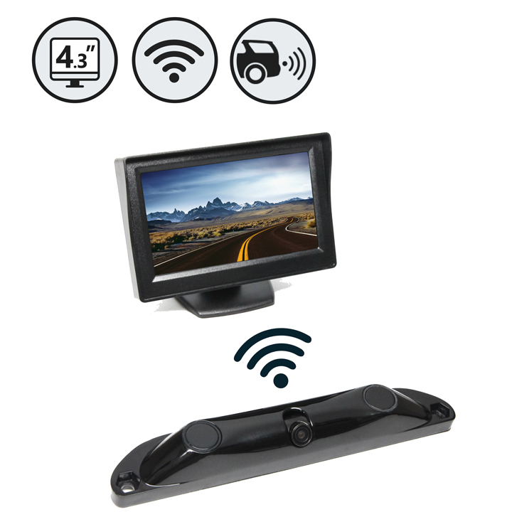 Rear View Safety Wireless Backup Camera System With Built-In Sensors