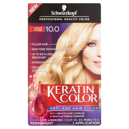 Schwarzkopf ® Kératine Couleur Anti-âge 10,0 Vanilla Blonde Hair Color Box
