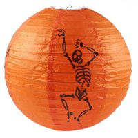 Halloween Paper Pumpkin Witch Spider Hanging Lantern Light Lamp Party Decoration Funny Gift