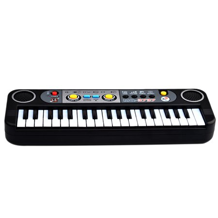 37 Keys Small Electronic Keyboard Piano Musical Toy Mic Records for Children - - Children Musical Toy