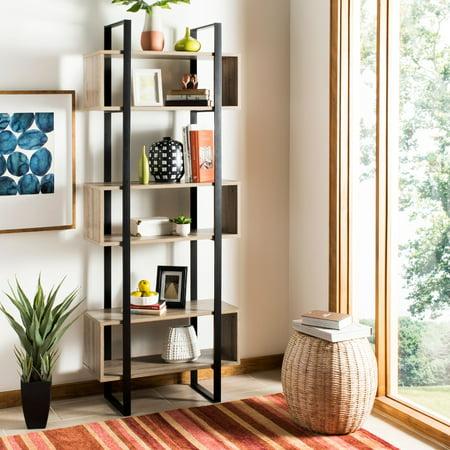 Safavieh Adhara Retro Mid Century Wood 3 Shelves Etagere, - Wood Etagere