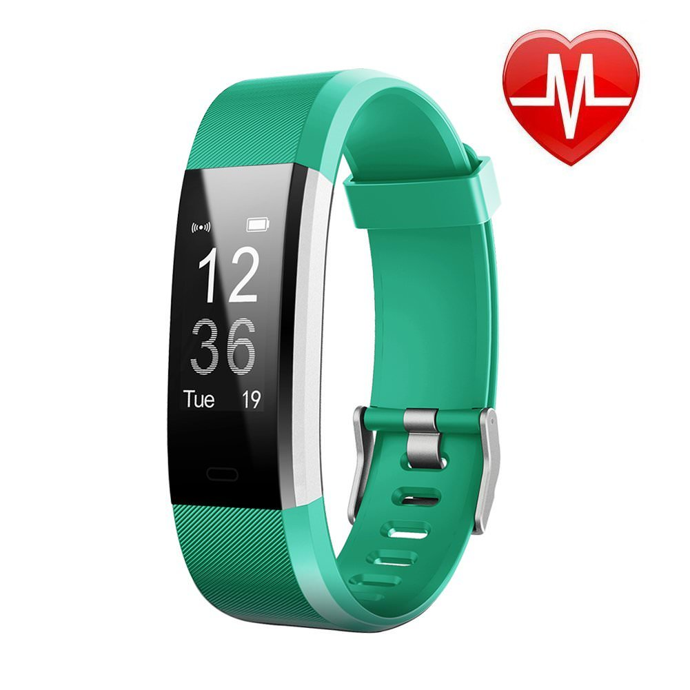 Waterproof Fitness Tracker Watch w/ Heart Rate Monitor, VIPUS Activity Tracker IP70 Smart Wristband Calorie Counter Watch Pedometer Sleep Monitor for Android IOS iPhone Women Men Kids Blue