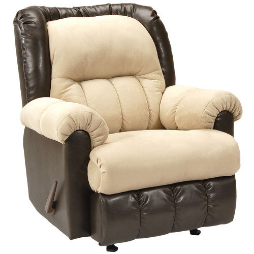 Serta Upholstery Rocker Recliner in Brown