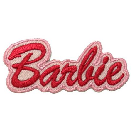 Barbie DIY Applique Embroidered Patch 3cm x 7.1cm Logo Sew Ironed On Badge Embroidery Applique Patch.