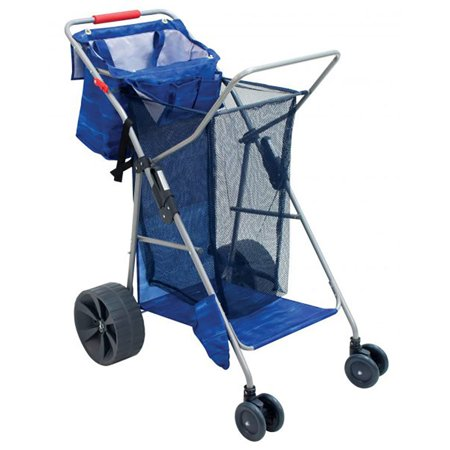 - RIO Brands Deluxe Wonder Wheeler Portable Beach Outdoor Utility Cart, Blue