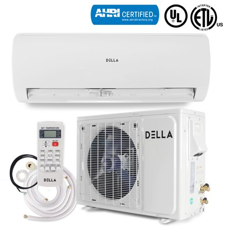 DELLA 18000 BTU (22 SEER) Mini Split Air Conditioner 230V Inverter Wall Mount Heat Pump System Ductless
