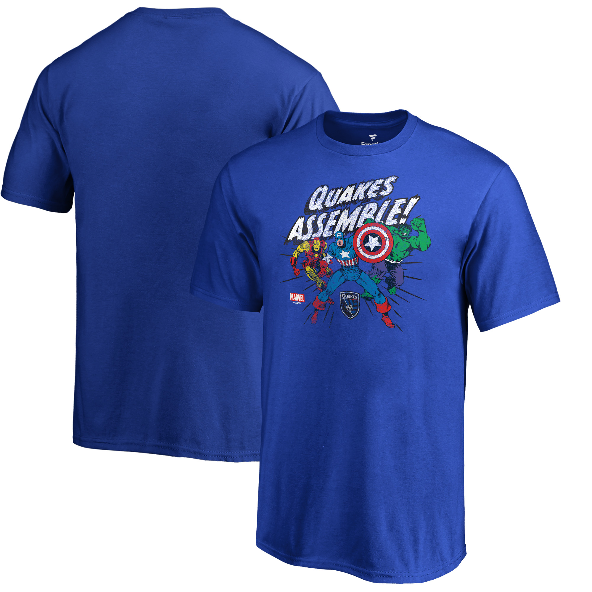 San Jose Earthquakes Fanatics Branded Youth Marvel Avengers Assemble T-Shirt - Royal