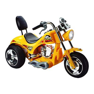 Mini Motos Red Hawk Motorcycle Battery Powered Riding Toy Yellow by Big Toy USA