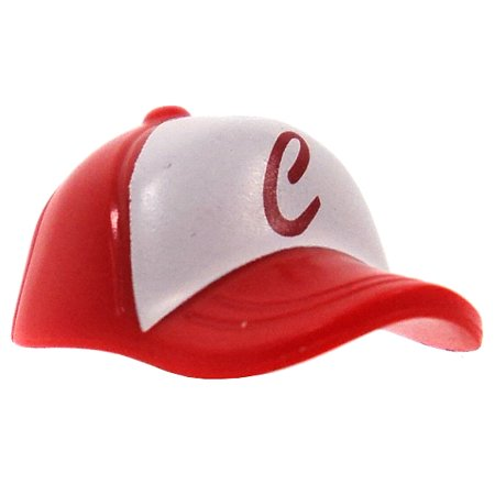 c665d942364 LEGO Minifigure Parts Red Baseball Cap with Red  C  on White Field -  Walmart.com
