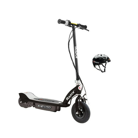 Razor E100 Motorized 24-Volt Electric Scooter, Black + Razor V17 Youth