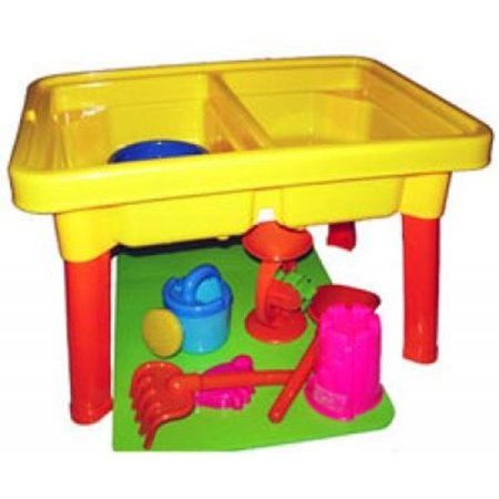 Sandbox Castle 2-in-1 Sand and Water Table with Beach Playset (Gift