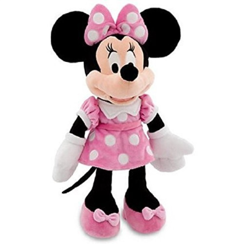 Disney Mickey Mouse Clubhouse Minnie Mouse Plush Toy - Pink Dress -- 19 H (2012)