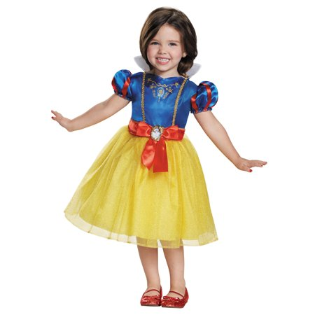 Snow White Classic Toddler Halloween Costume Medium 3T-4T](Kids Snow Leopard Costume)