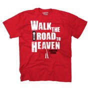 Walk The Road Heaven Christian Shirt | Jesus Christ Religious T-Shirt Tee