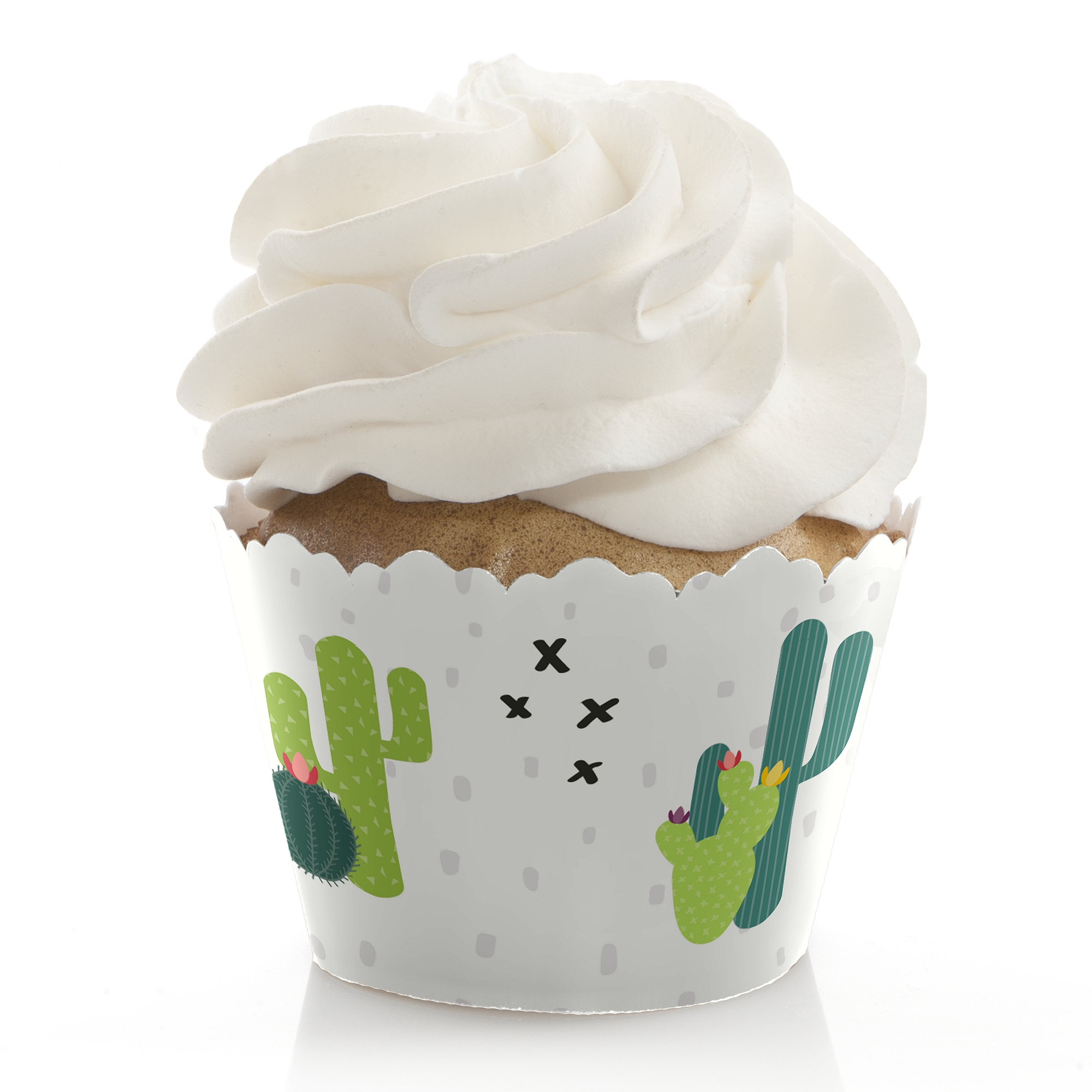 Prickly Cactus Party - Fiesta Party Cupcake Wrappers - Set of 12