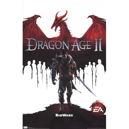 dragon age 2 game cover poster print 24 x 36