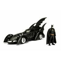 1995 Batmobile Batman Forever, Black - Jada 98036 - 1/24 Scale Diecast Model Toy Car