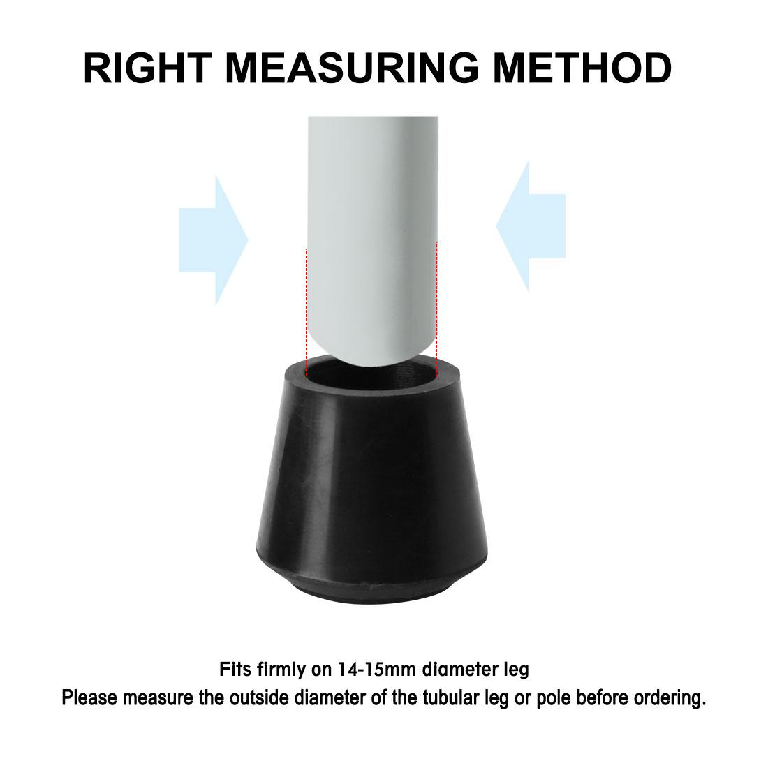 "Rubber Leg Cap Tip Cup Feet Cover 14mm 9/16"" Inner Dia 40pcs for Furniture Table - image 6 de 7"