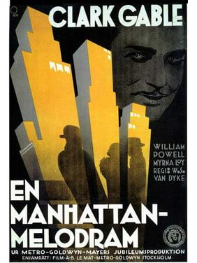 """Manhattan Melodrama - movie POSTER (11"""" x 17"""") (1934)"""