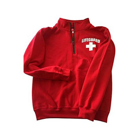 Lifeguard Quarter Zip Pullover - Zipper Fleece Sweatshirt Apparel Ideal for Men, Teens, Girls.