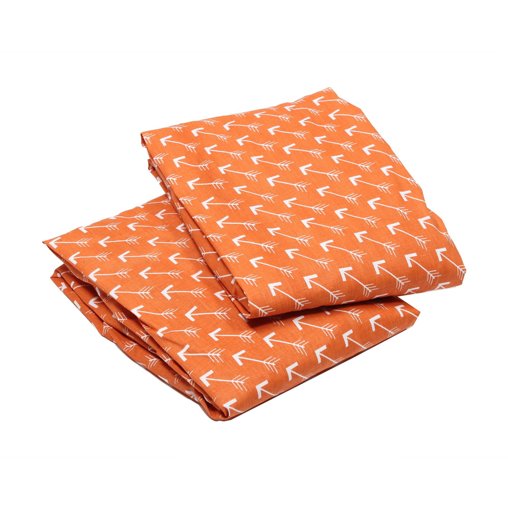 Bacati Arrows White/Orange 2-Pack Crib Fitted Sheet