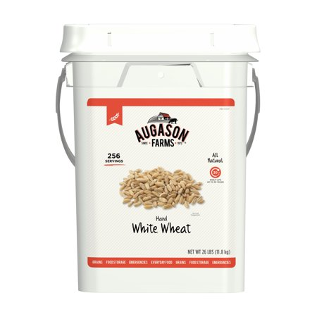 Farm Food (Augason Farms Hard White Wheat Emergency Food Storage 26 Pound Pail )