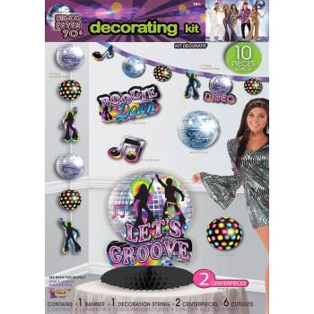 DISCO PARTY DECOR-DECOR KIT (Disco Party Supplies)