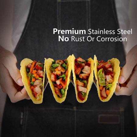 Joyfeel 2019 Hot Sale Taco Holder Taco Stand Stainless Steel Rustproof Rack Bracket Tray Style for Baking