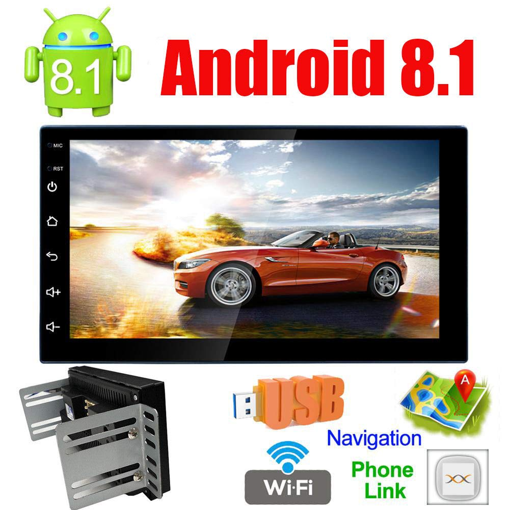 "Android 8.1 Car Stereo MP5 Player GPS Navigation 7/"" 2 Din Radio WiFi BT FM Unit"