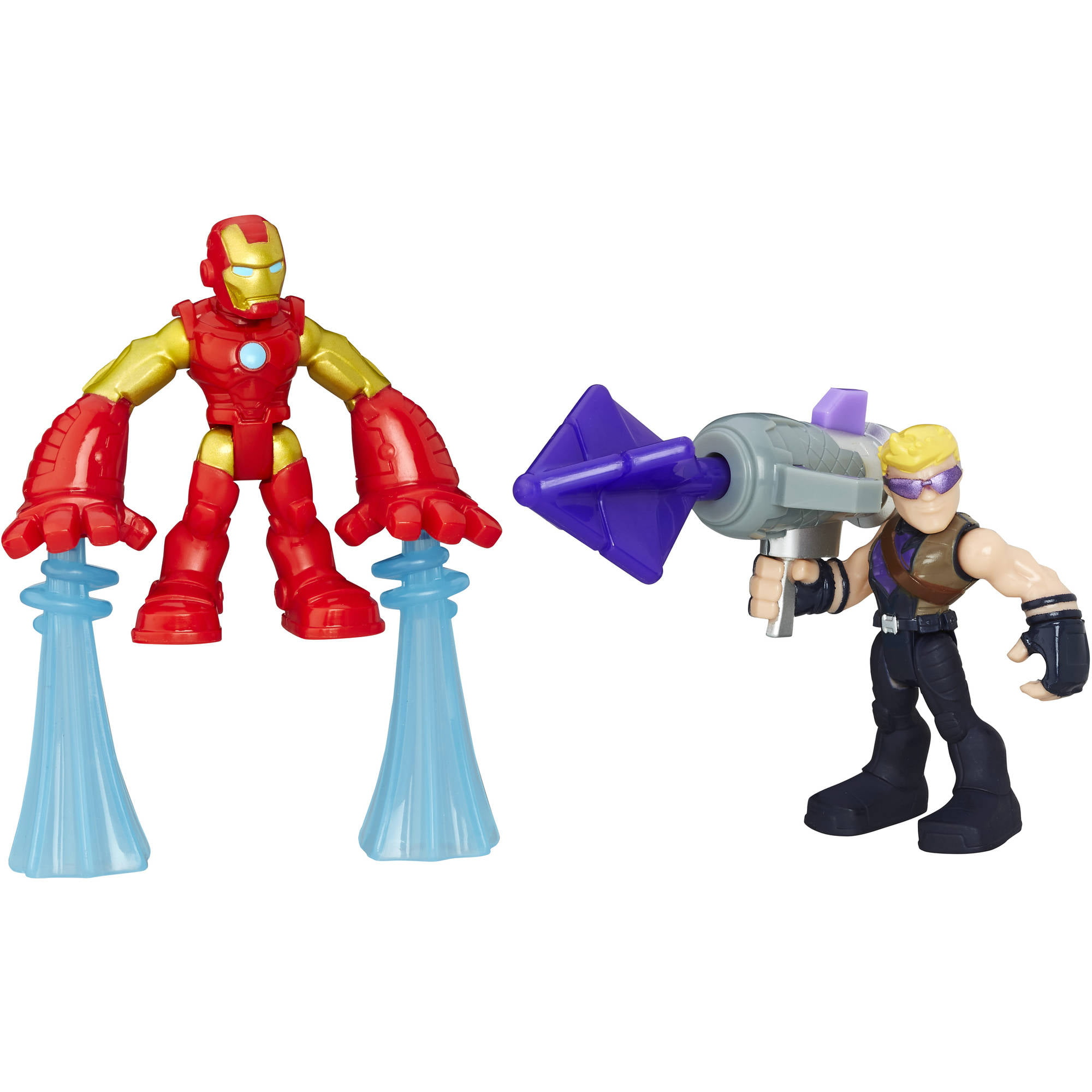 Playskool Heroes Marvel Super Hero Adventures Iron Man and Marvel's Hawkeye by SUPER HERO ADVENTURE