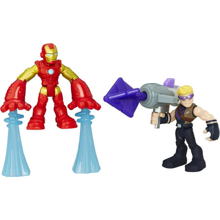 Playskool Heroes Marvel Super Hero Adventures Iron Man and Marvel's Hawkeye (Male Superheroes)