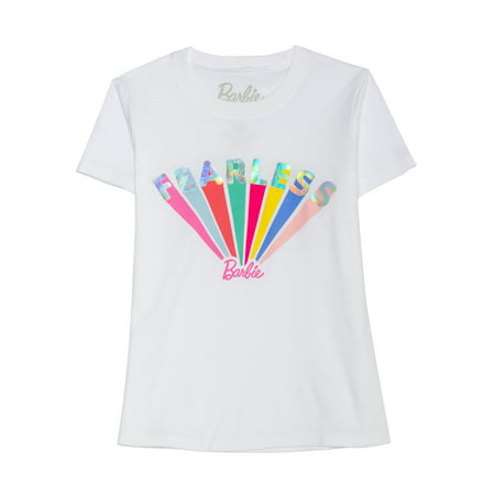 Barbie Fearless Foil Graphic Tee (Little Girls & Big -