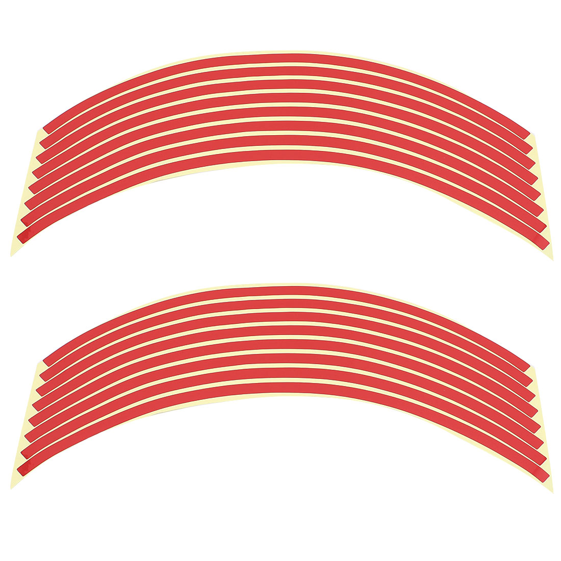 Unique Bargains Self-adhesive Reflective Rim Stripes Wheel Decals Tape Sticker Red
