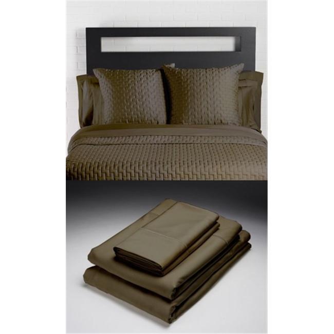 Home Source 52500SDO55 100 Percent Bamboo Pillowcase Pair - Sable