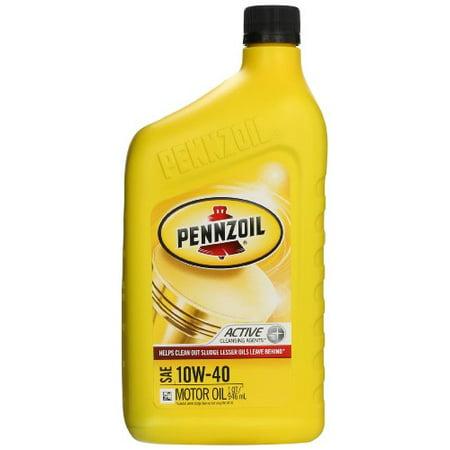Pennzoil 550035160 6pk Sae 10w 40 Motor Oil 1 Quart